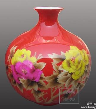 陶瓷花瓶,景德镇大花瓶,中国红花瓶