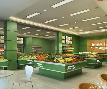 成都水果店装修设计水果超市装修设计水果店效果图